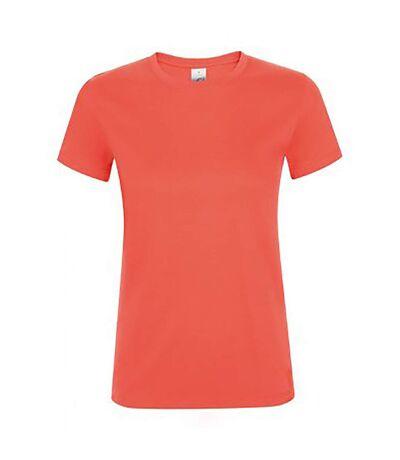 SOLS Womens/Ladies Regent Short Sleeve T-Shirt (Coral) - UTPC2792