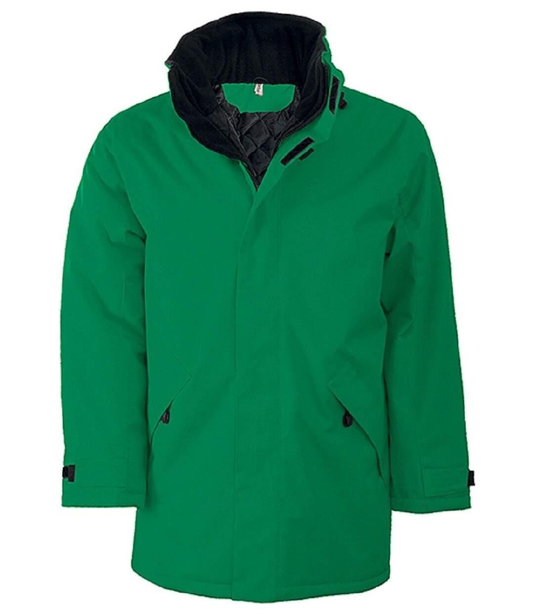 Parka Homme doublure matelassée - K677 - vert kelly