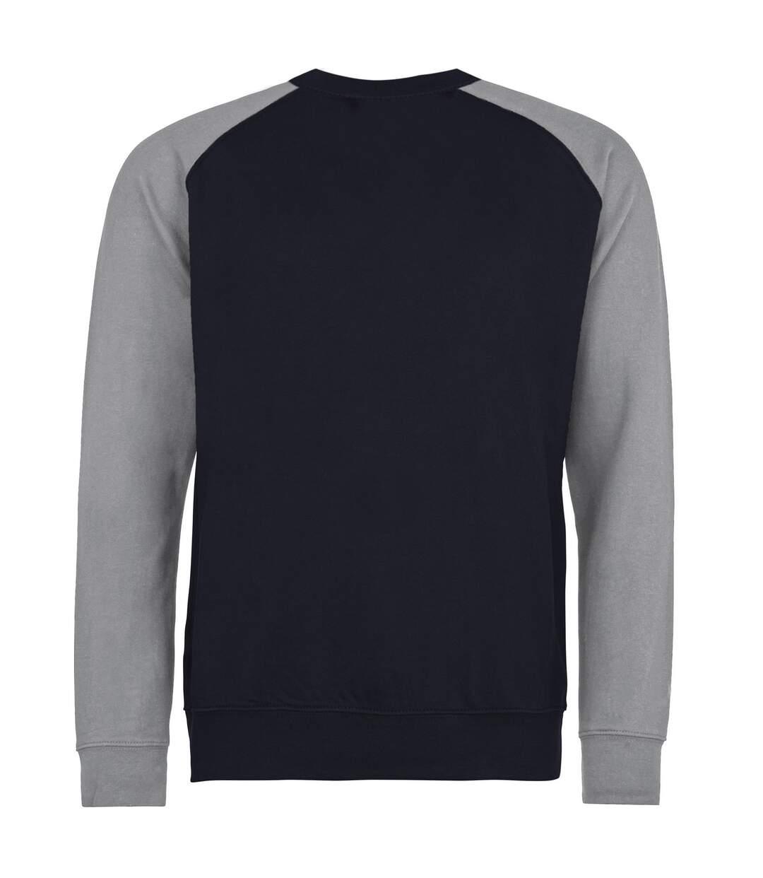 Awdis Mens Two Tone Cotton Rich Baseball Sweatshirt (Jet Black/Fire Red) - UTRW3929