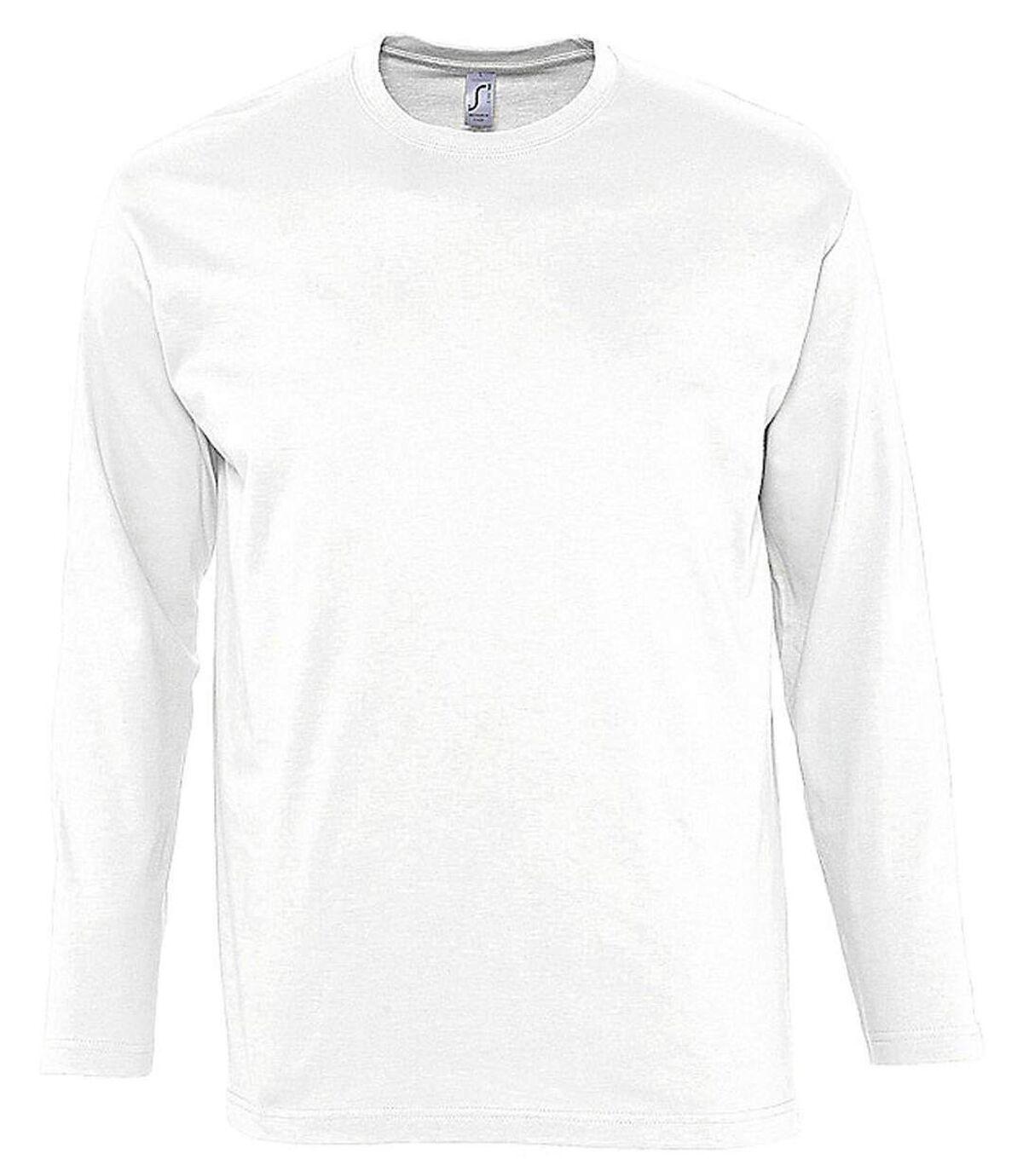 T-shirt manches longues HOMME - 11420 - blanc