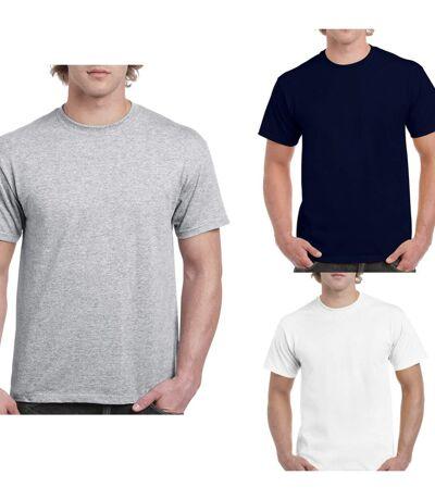 Lot 3 t-shirts 5XL Homme - taille américaine - Blanc - gris - navy