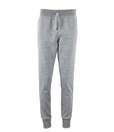 Pantalon jogging femme coupe slim - 02085 - gris chiné