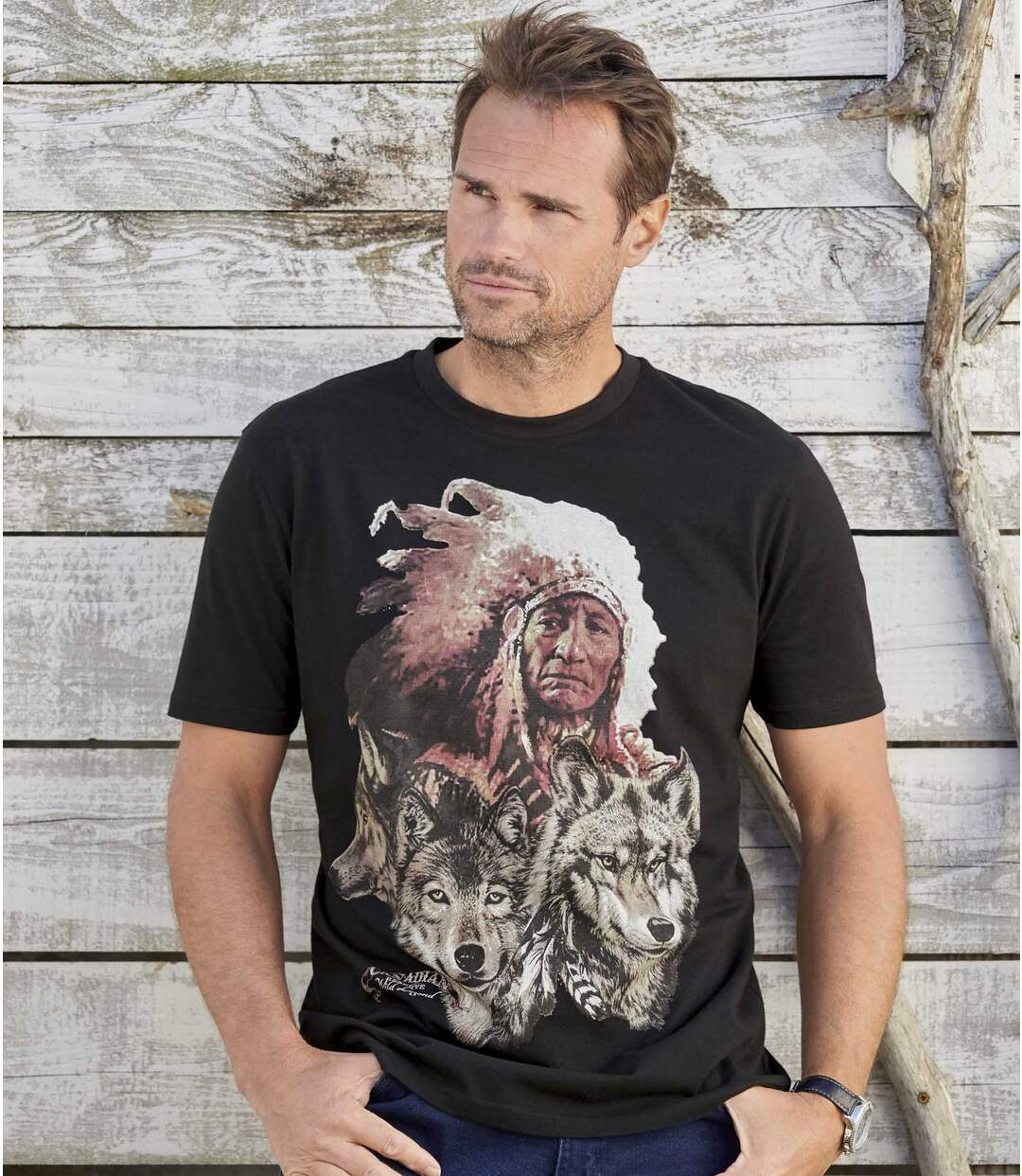 T-shirt z nadrukiem Canadian Legend