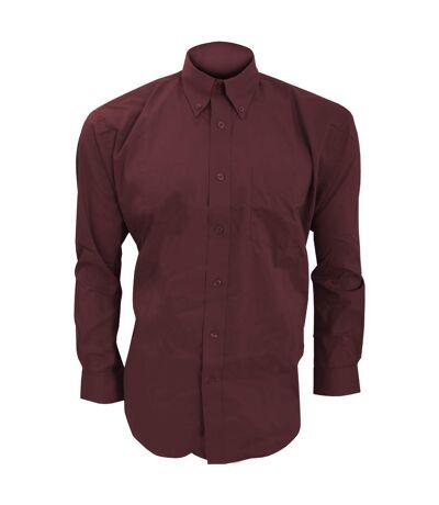 Kustom Kit Mens Long Sleeve Corporate Oxford Shirt (Burgundy) - UTBC594