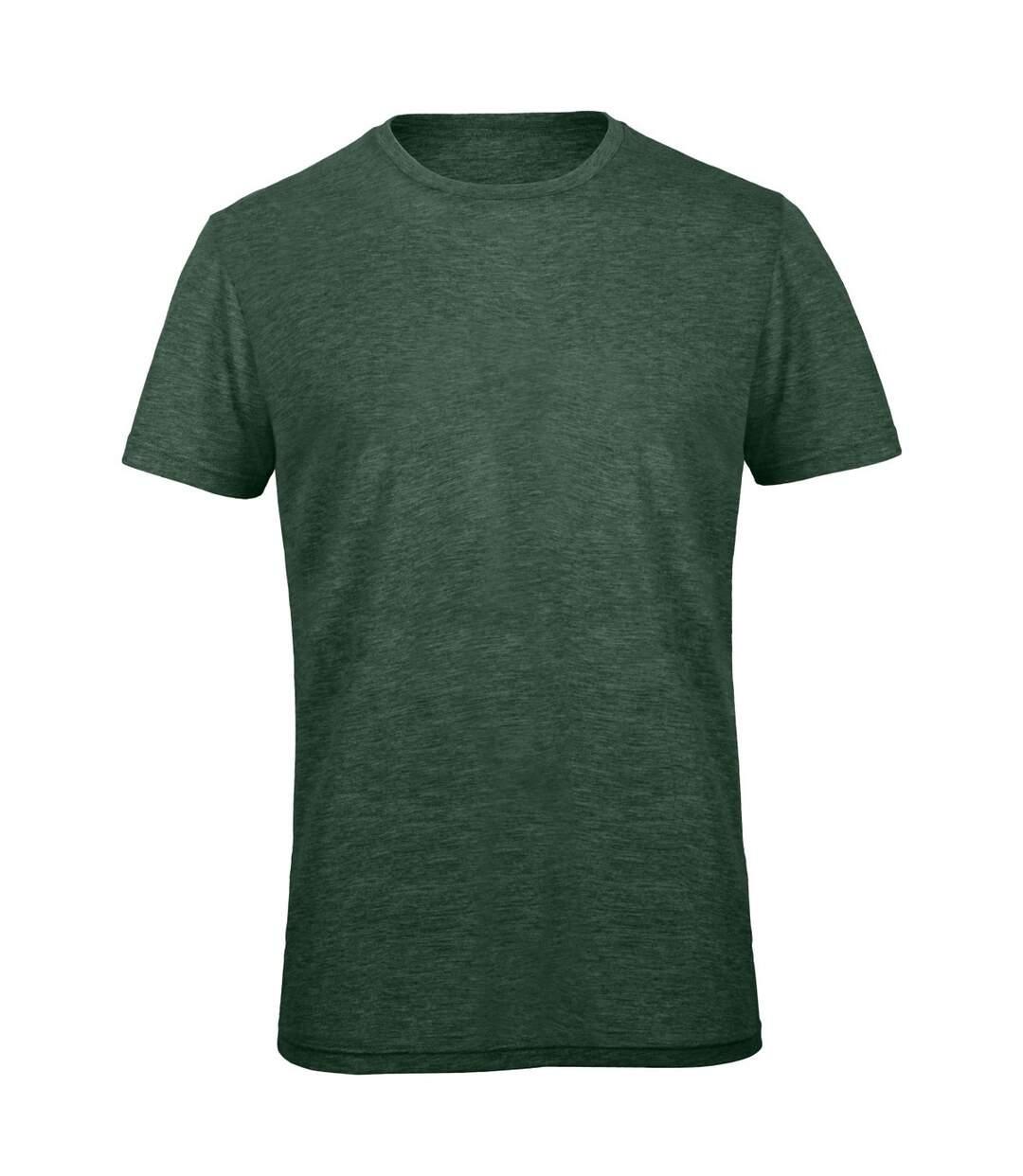 B&C Mens Favourite Short Sleeve Triblend T-Shirt (Heather Forest Green) - UTBC3638
