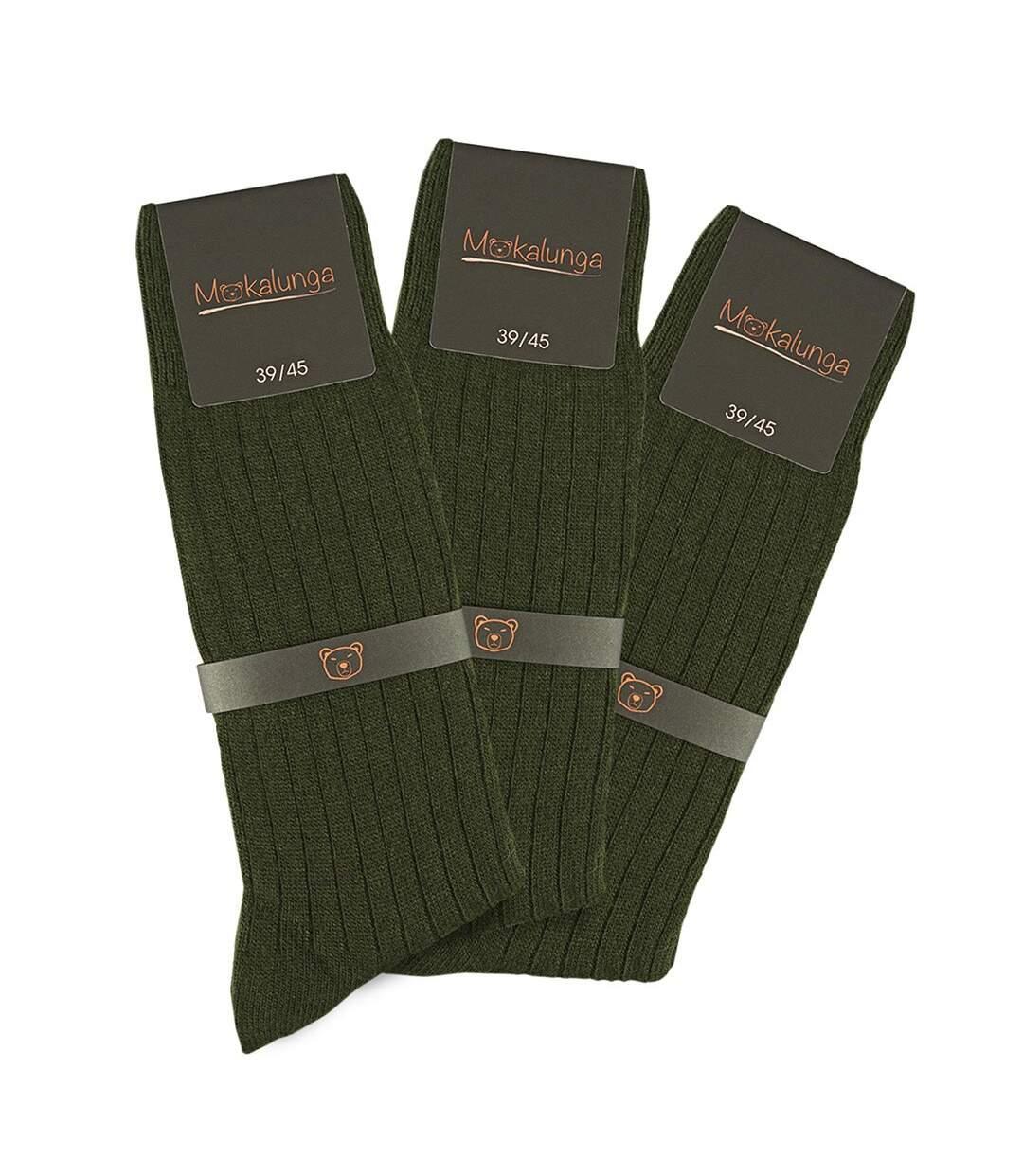 Chaussettes homme Mokalunga   (Lot de 3 paires) - Fabriqué en UE