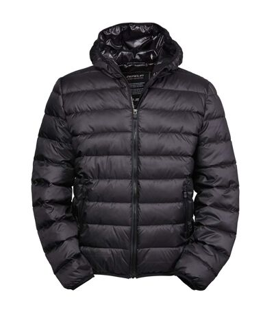 Tee Jays Mens Hooded Padded Zepelin Jacket (Black) - UTBC3338