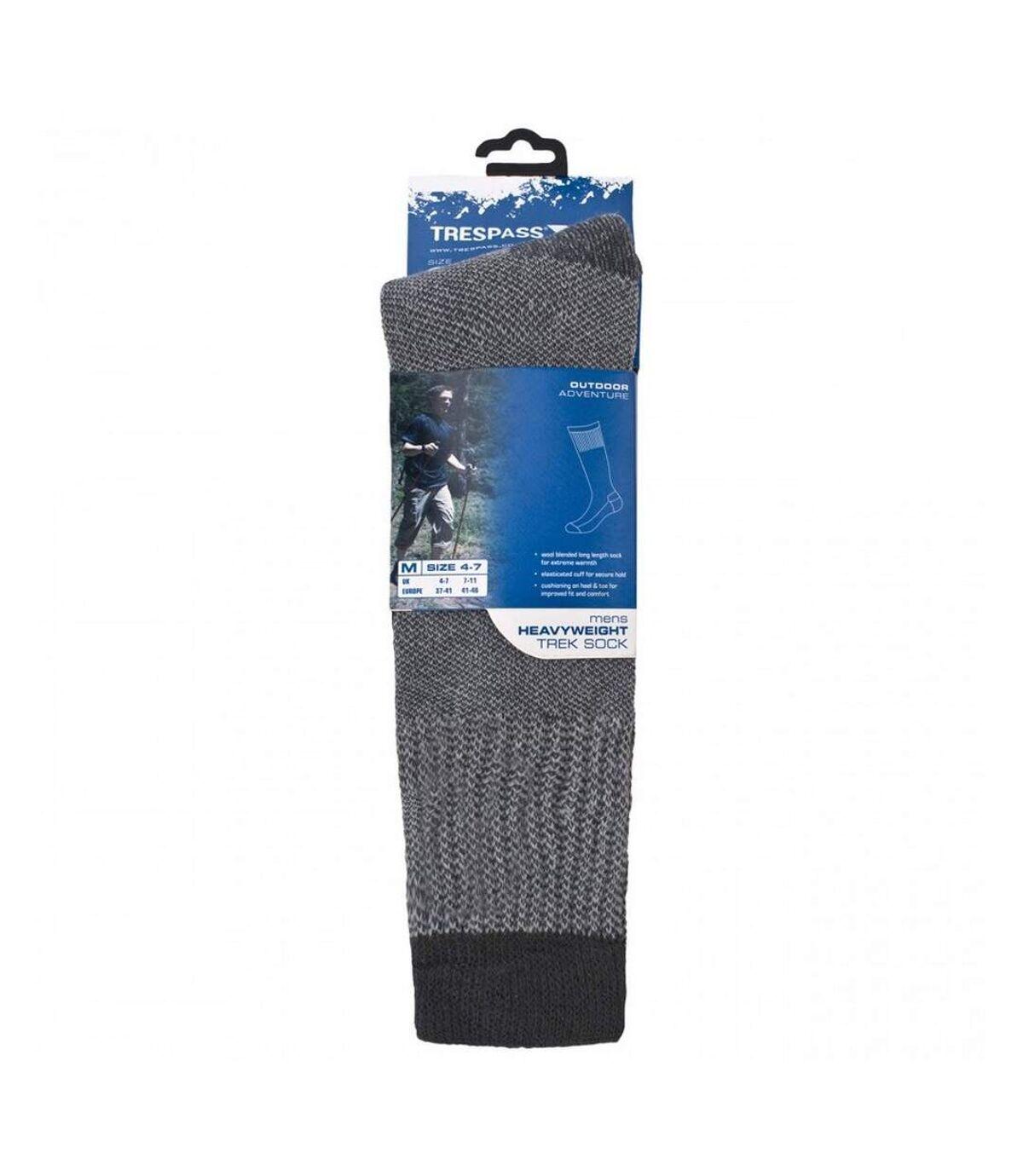Trespass Mens Brogan Long Length Hiking Boot Socks (1 Pair) (Flint) - UTTP319