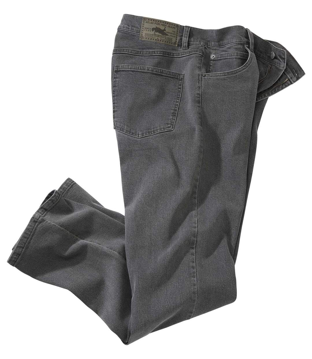 Szare jeansy Stretch Regular