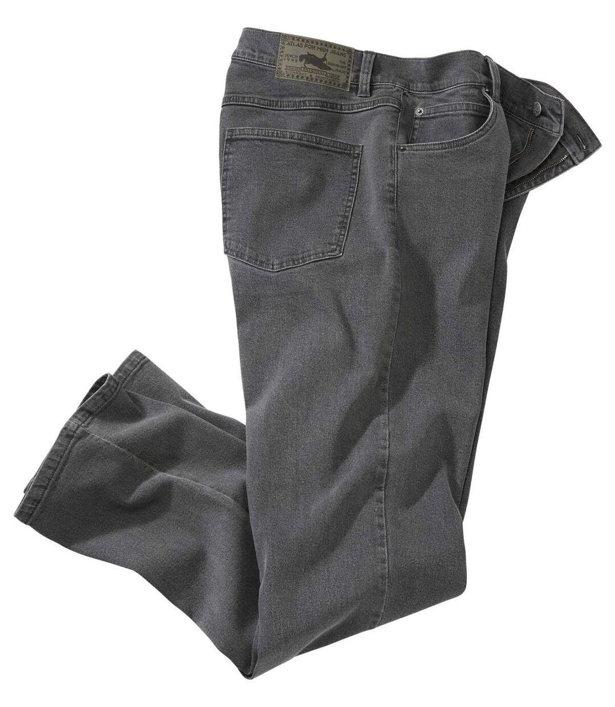 Šedé strečové džíny Regular Atlas For Men
