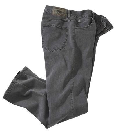 Men's Regular Stretch Gray Jeans