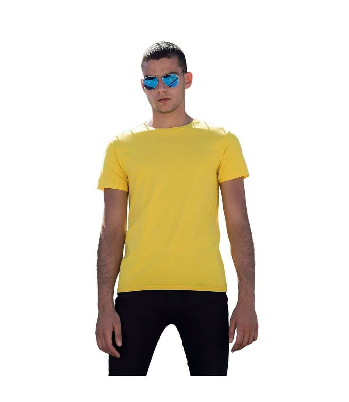 Skinni Fit - T-shirt manches courtes FEEL GOOD - Homme (Jaune) - UTRW4427