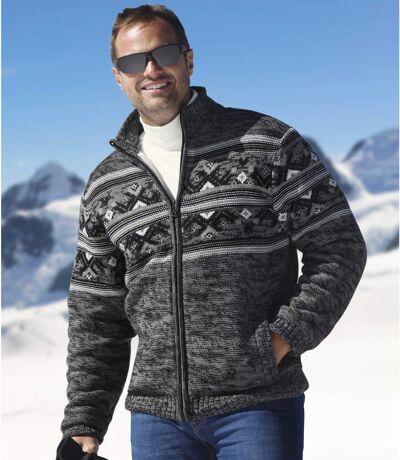 Men's Sherpa-Lined Full Zip Jacket