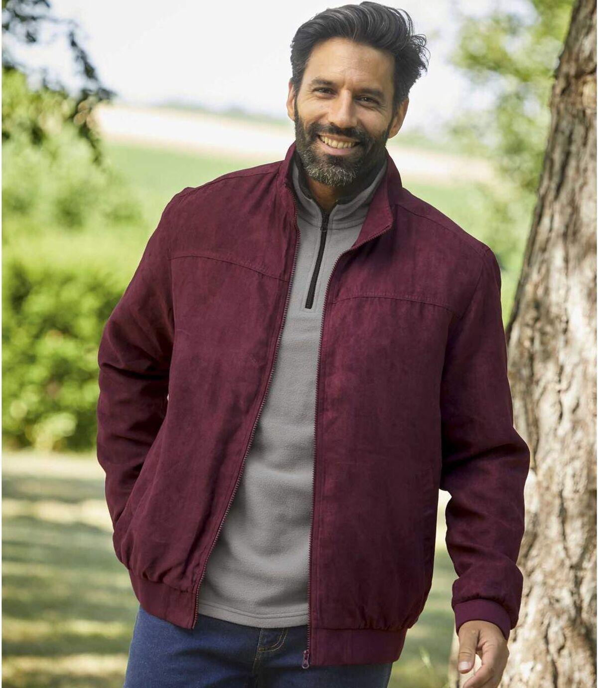 Polár bélésű, művelúr dzseki Atlas For Men