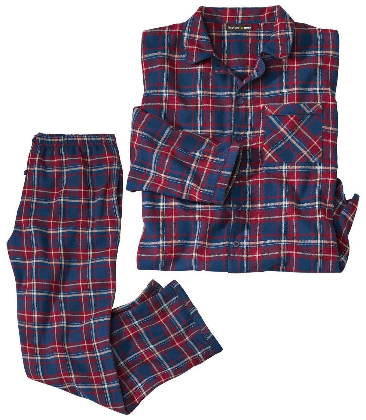 Kockás flanel pizsama Atlas For Men
