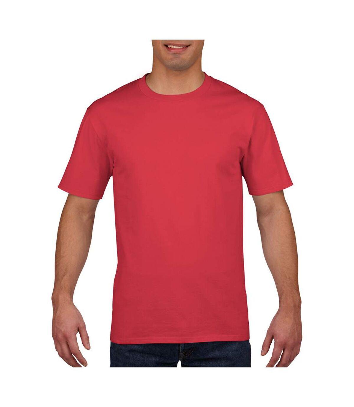 Gildan Mens Premium Cotton Ring Spun Short Sleeve T-Shirt (Red) - UTBC480