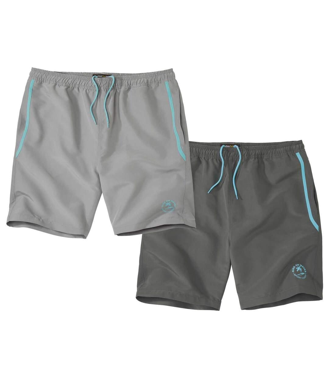 2er-Pack Shorts Sporting aus Microfaser