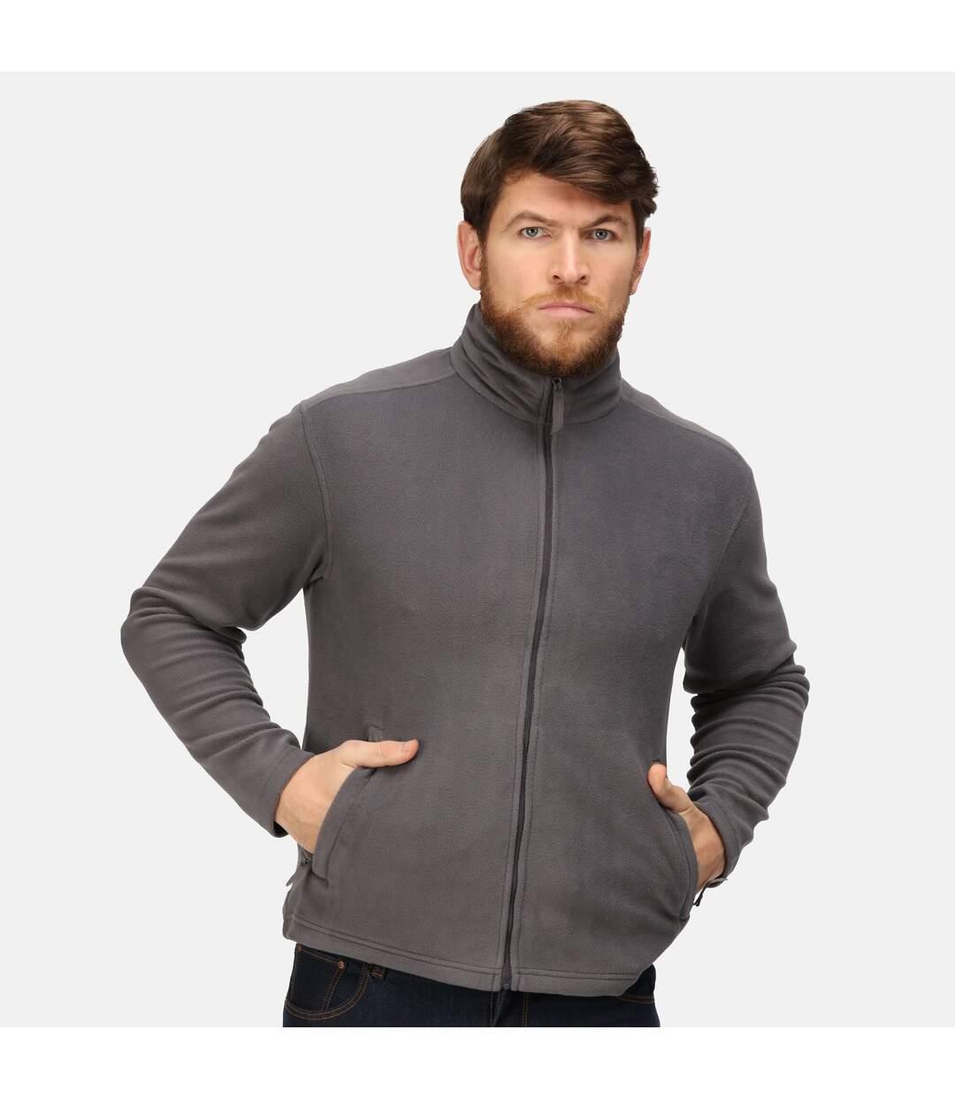 Regatta Mens Classic Microfleece Jacket (Seal Grey) - UTRG5202