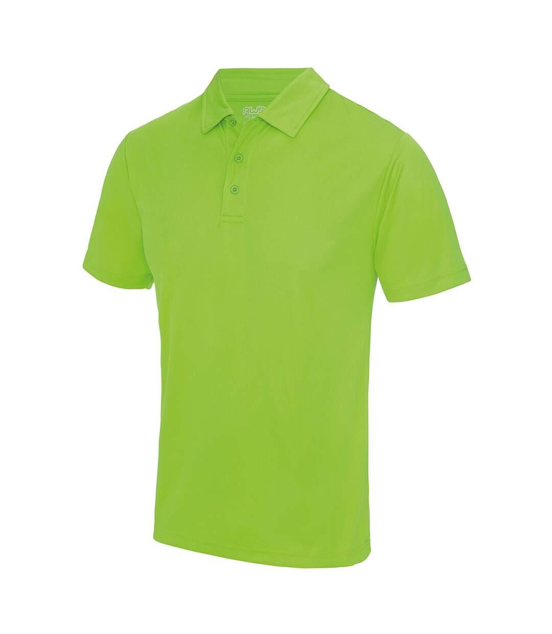 AWDis Just Cool Mens Plain Sports Polo Shirt (Heather Grey) - UTRW691