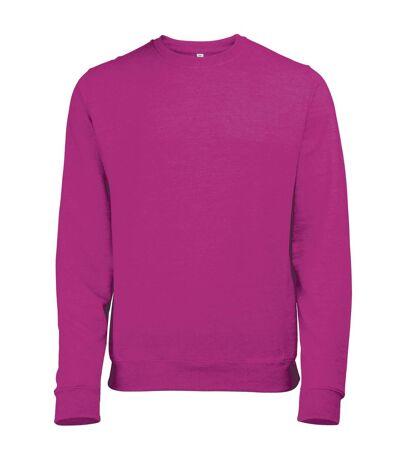 Awdis Mens Heather Lightweight Crew Neck Sweatshirt (Pink Heather) - UTRW173