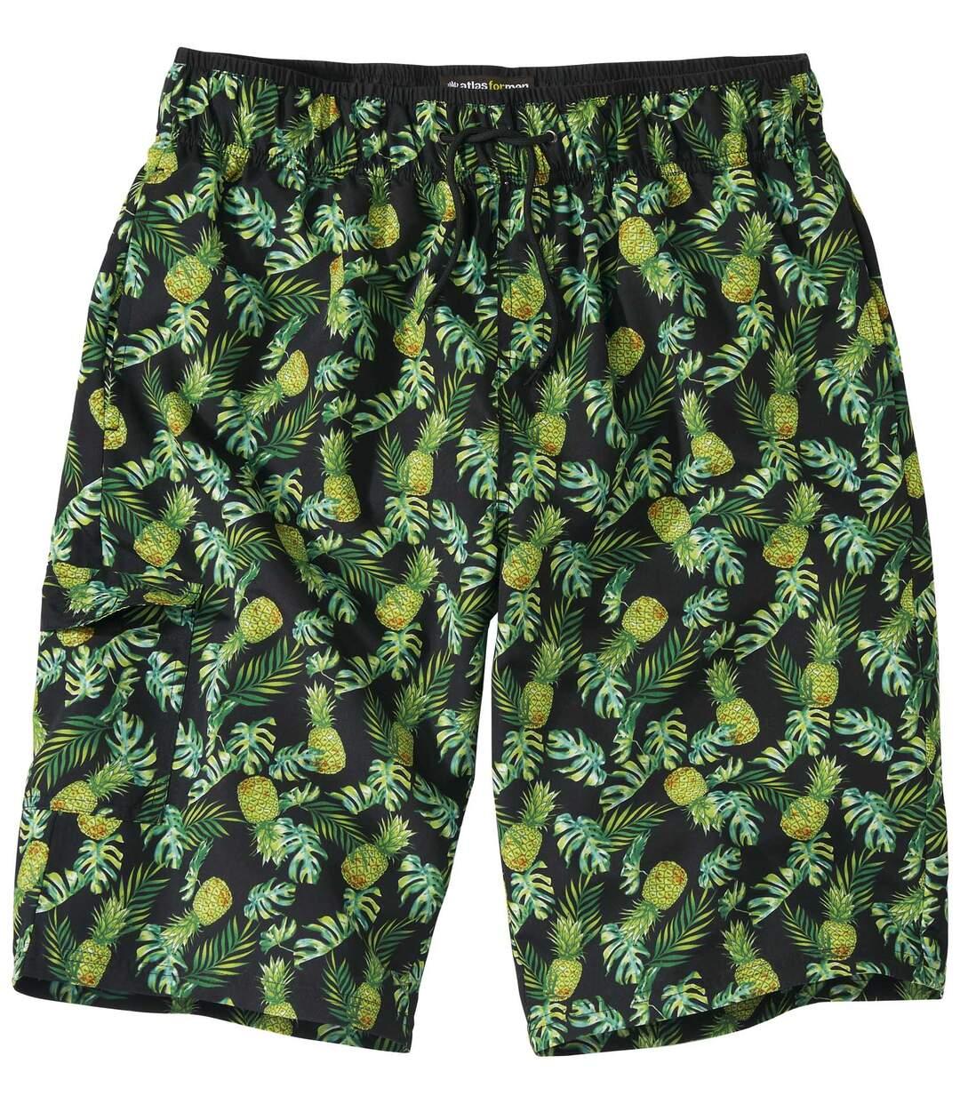 Zwemshort met ananas motieven