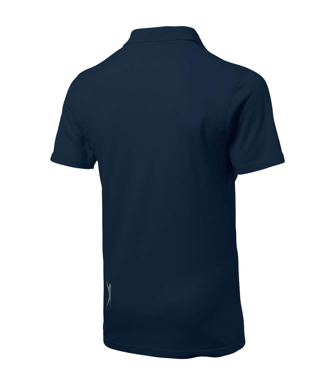 Slazenger Mens Advantage Short Sleeve Polo (Navy) - UTPF1738