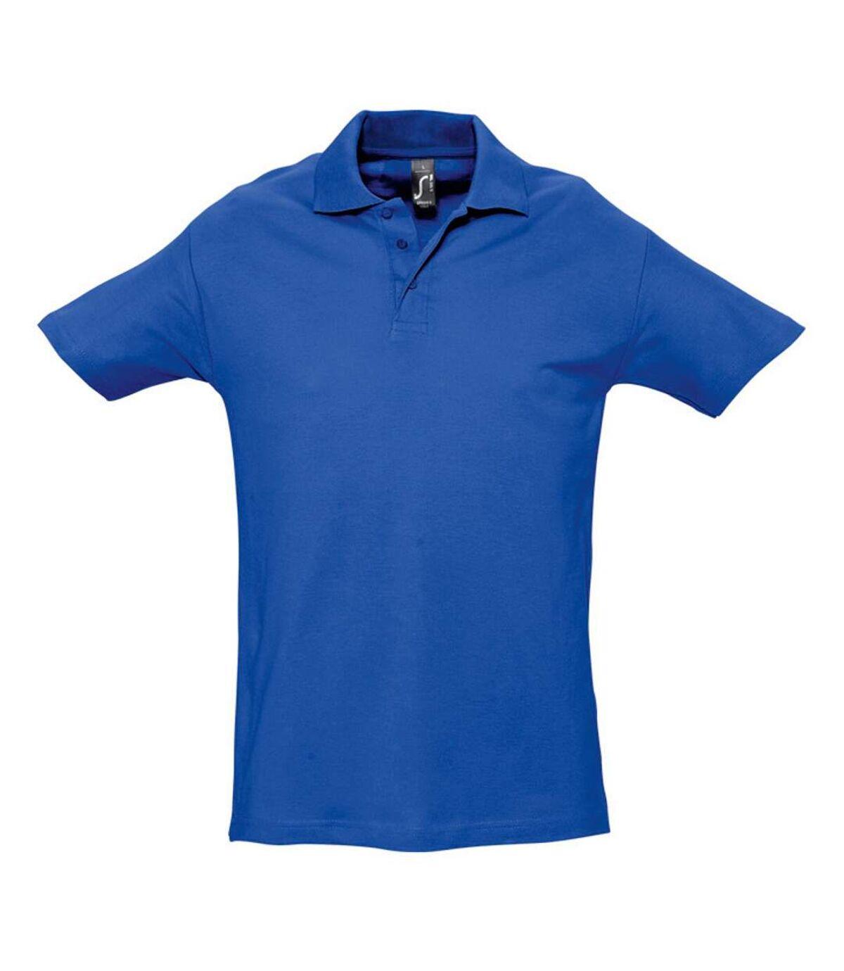 SOLS Mens Spring II Short Sleeve Heavyweight Polo Shirt (Royal Blue) - UTPC320