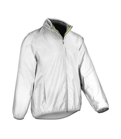 Spiro Mens Luxe Reflective Waterproof Jacket (White) - UTPC4398
