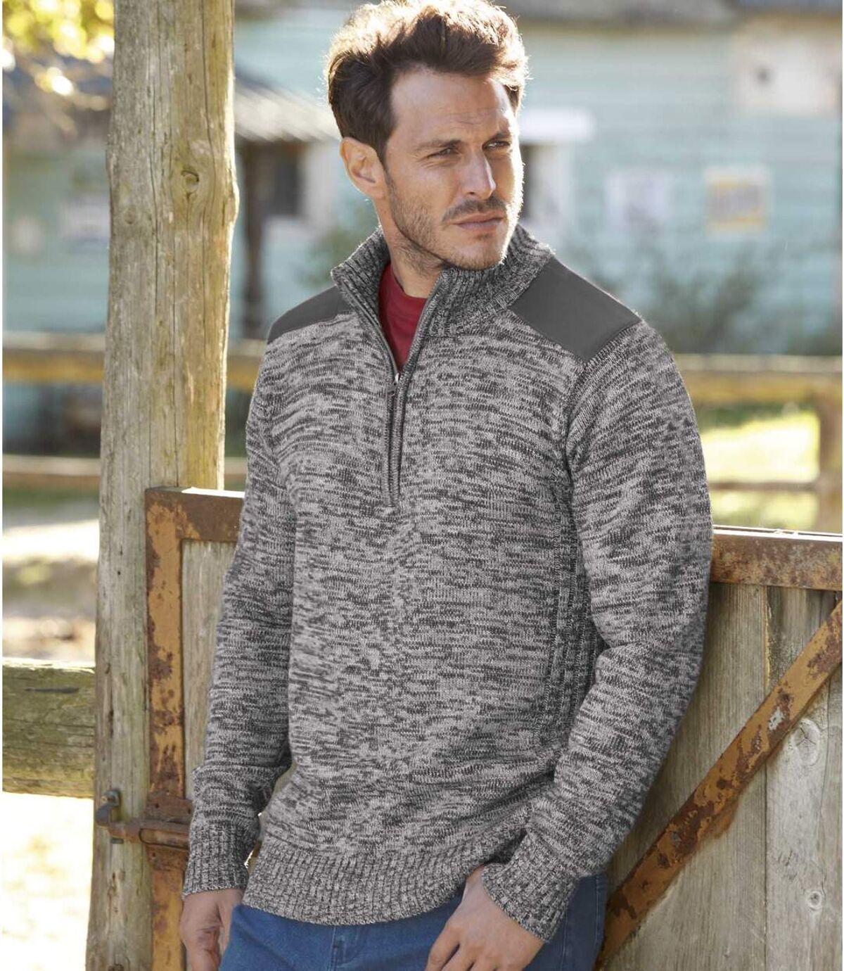 Pletený svetr na zip Atlas For Men