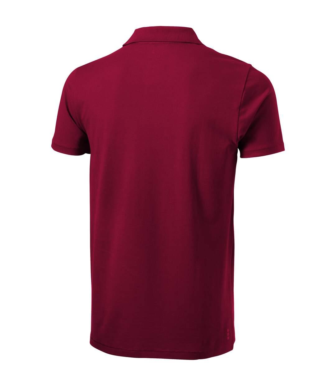 Elevate Mens Seller Short Sleeve Polo (Burgundy) - UTPF1825