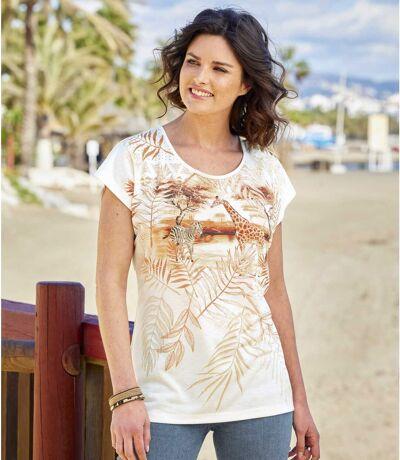 Bedrucktes T-Shirt Savanne