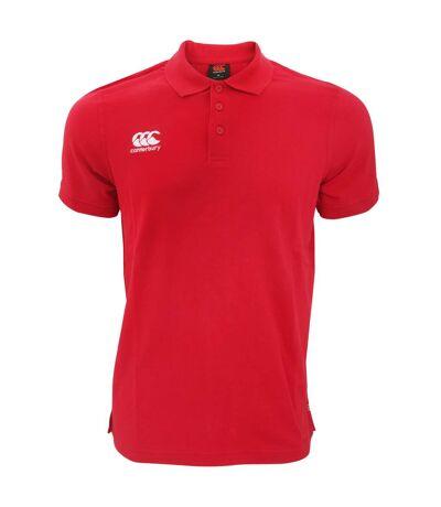 Canterbury Mens Waimak Short Sleeve Pique Polo Shirt (Red) - UTPC2463