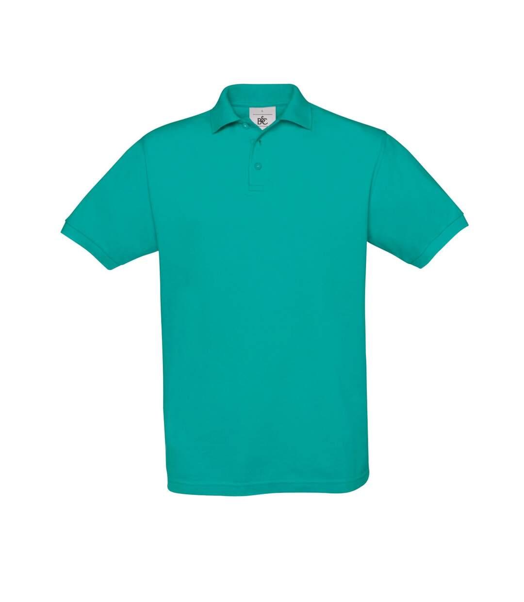B&C Safran Mens Polo Shirt / Mens Short Sleeve Polo Shirts (Real Turquoise) - UTBC103