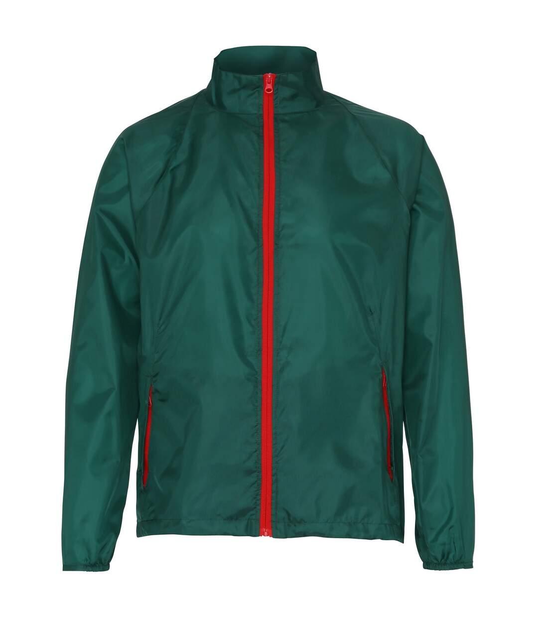 2786 Mens Contrast Lightweight Windcheater Shower Proof Jacket (Silver (Metallic)/ White) - UTRW2501