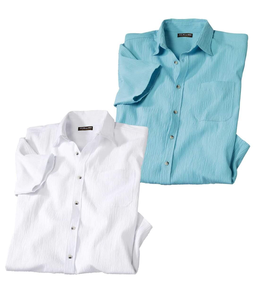 2er-Pack Sommerhemden aus Krepp