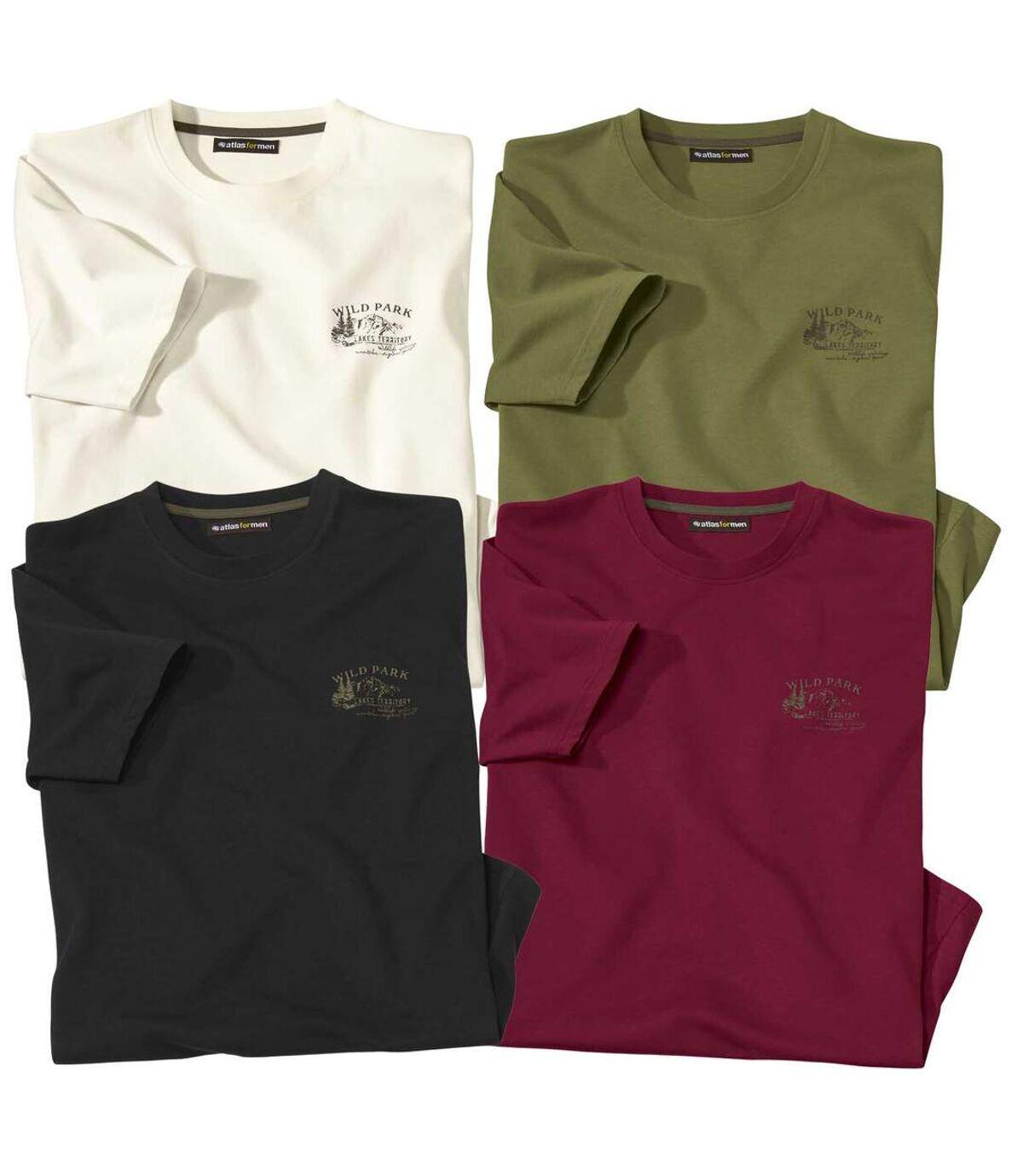 4er-Pack Casual-T-Shirts Atlas For Men