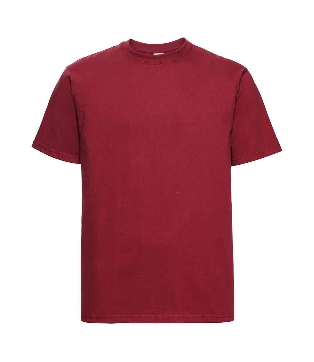 Russell Europe - T-shirt épais à manches courtes 100% coton - Homme (Rouge classique) - UTRW3276