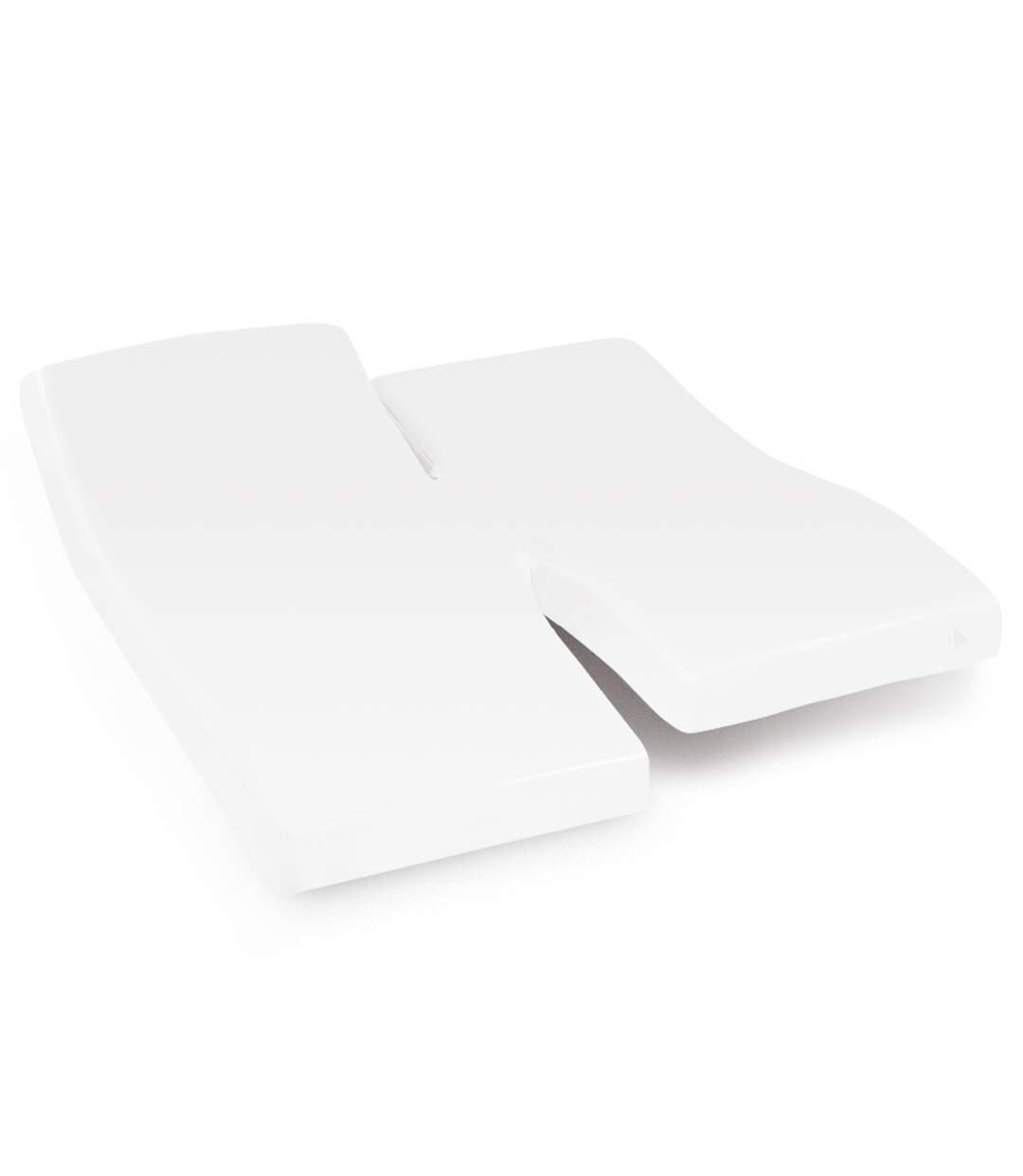 Protège matelas imperméable 2x80x190 cm lit articulé TPR bonnet 30cm ARNON molleton 100% coton contrecollé polyuréthane