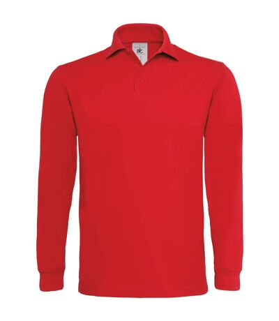 B&C Heavymill - Polo à manches longues - Homme (Rouge) - UTRW3007