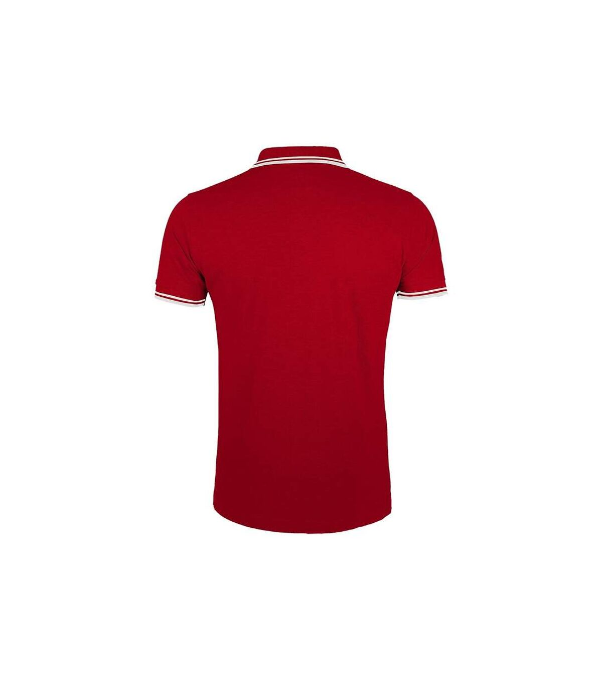 SOLS Mens Pasadena Tipped Short Sleeve Pique Polo Shirt (Red/White) - UTPC2431