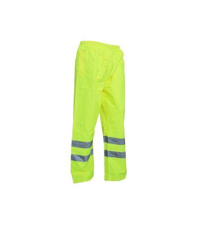 Yoko Mens Hi-Vis Waterproof Contractor Over Trousers (Pack of 2) (Hi-Vis Yellow) - UTBC4402
