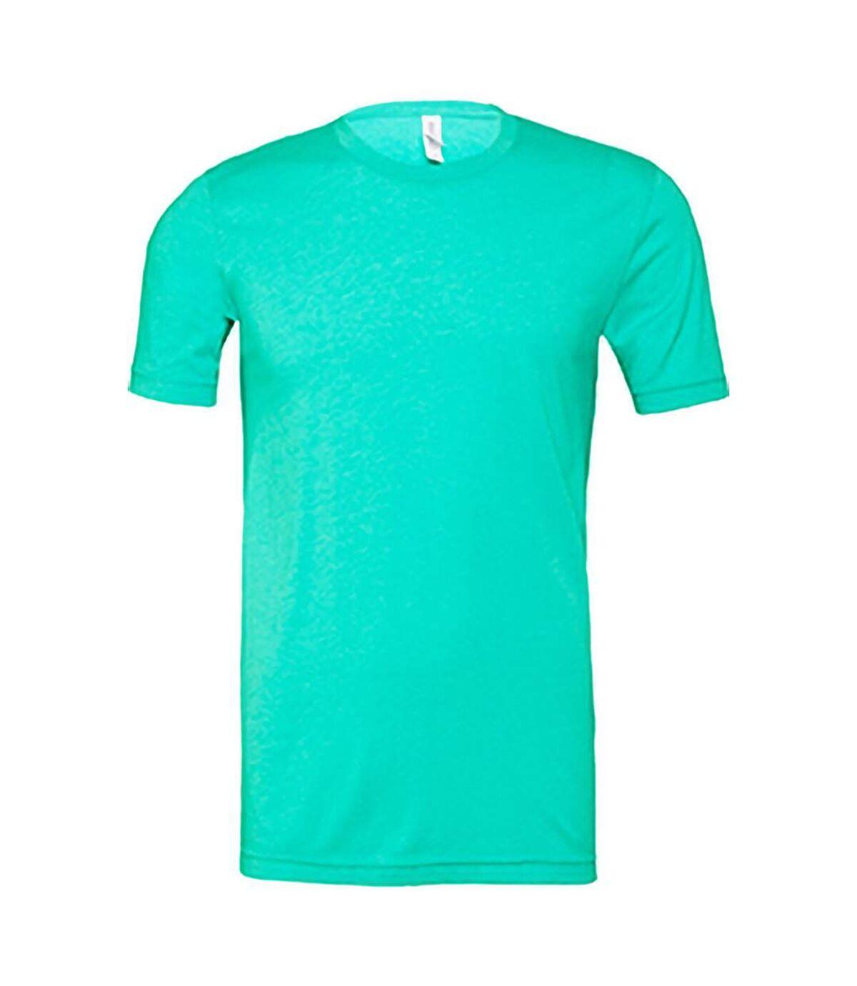 Canvas Unisex Jersey Crew Neck T-Shirt / Mens Short Sleeve T-Shirt (Heather Sea Green) - UTBC163