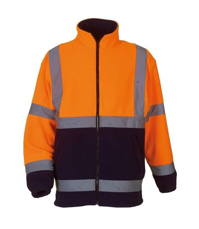 Yoko Mens Hi Vis Heavyweight Fleece Jacket (Pack of 2) (Orange/ Navy) - UTRW6875