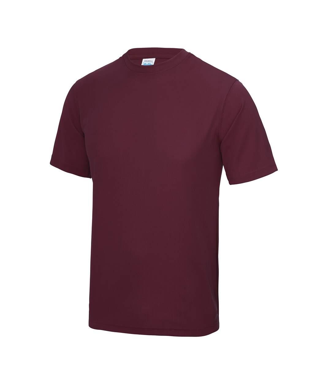 AWDis Just Cool Mens Performance Plain T-Shirt (Burgundy) - UTRW683