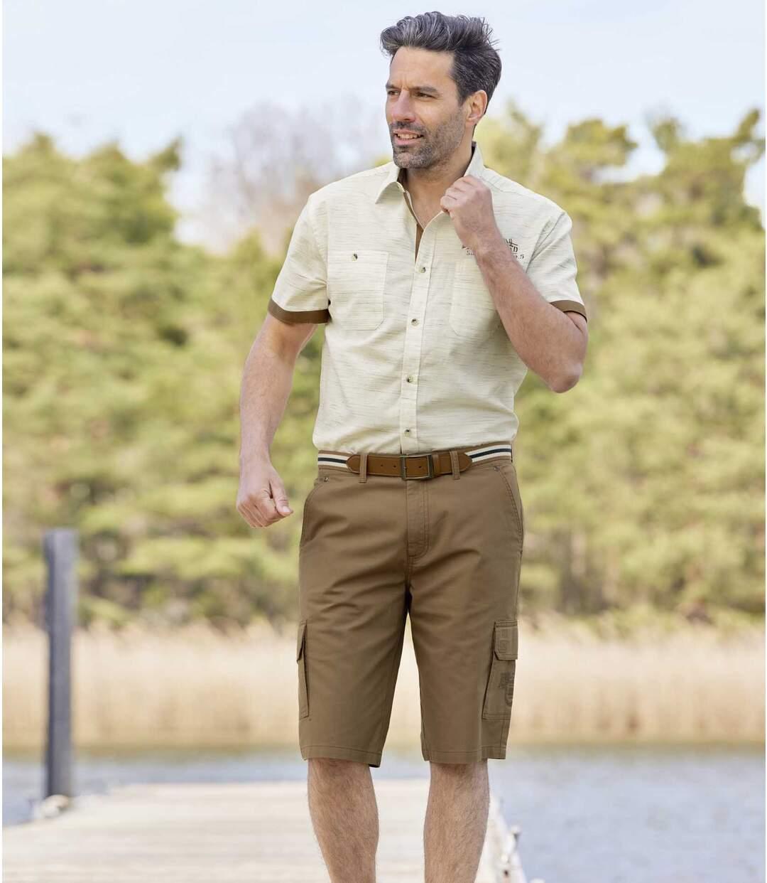 Men's Brown Cargo Shorts Atlas For Men
