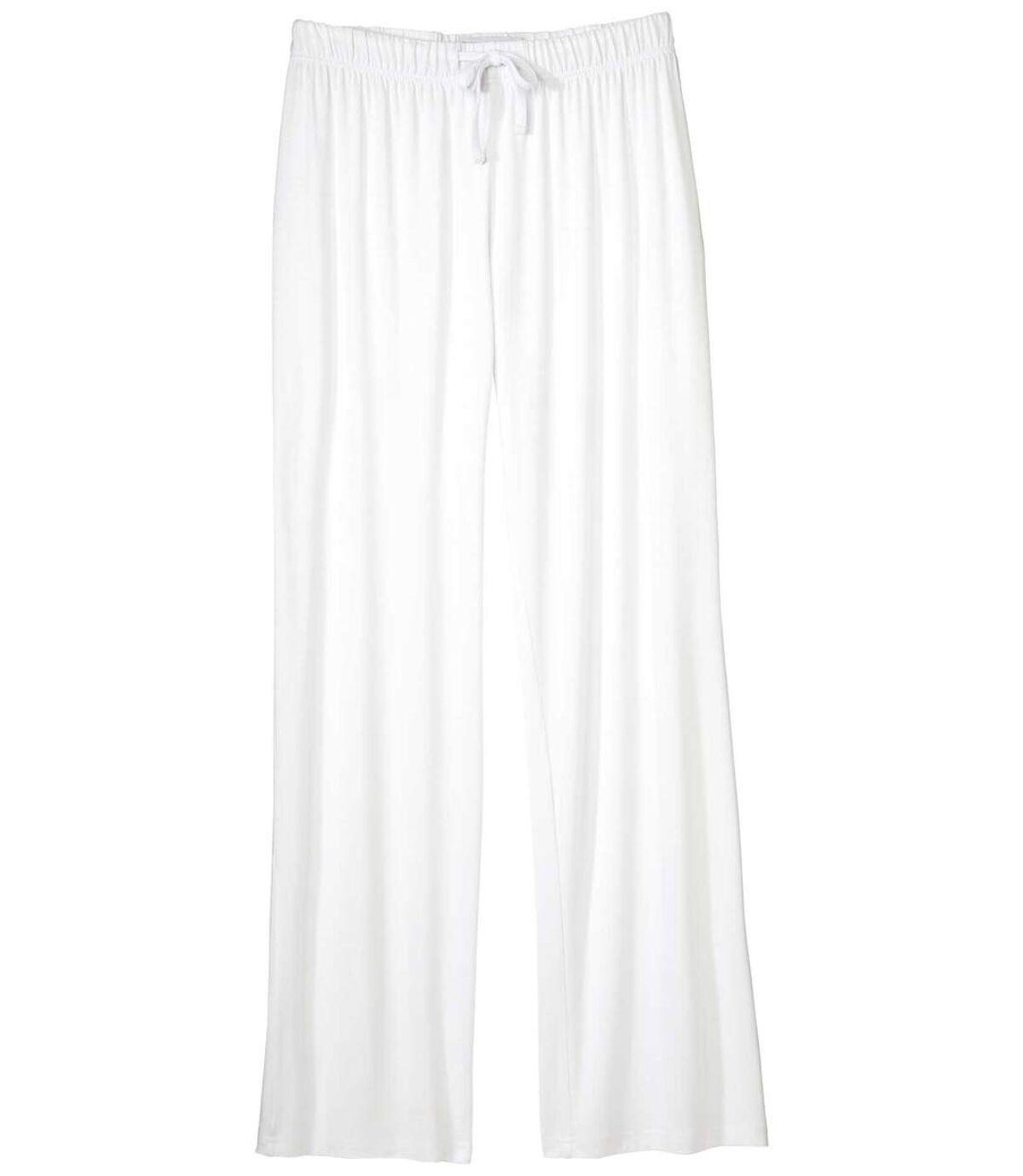 Bílé splývavé kalhoty Atlas For Men