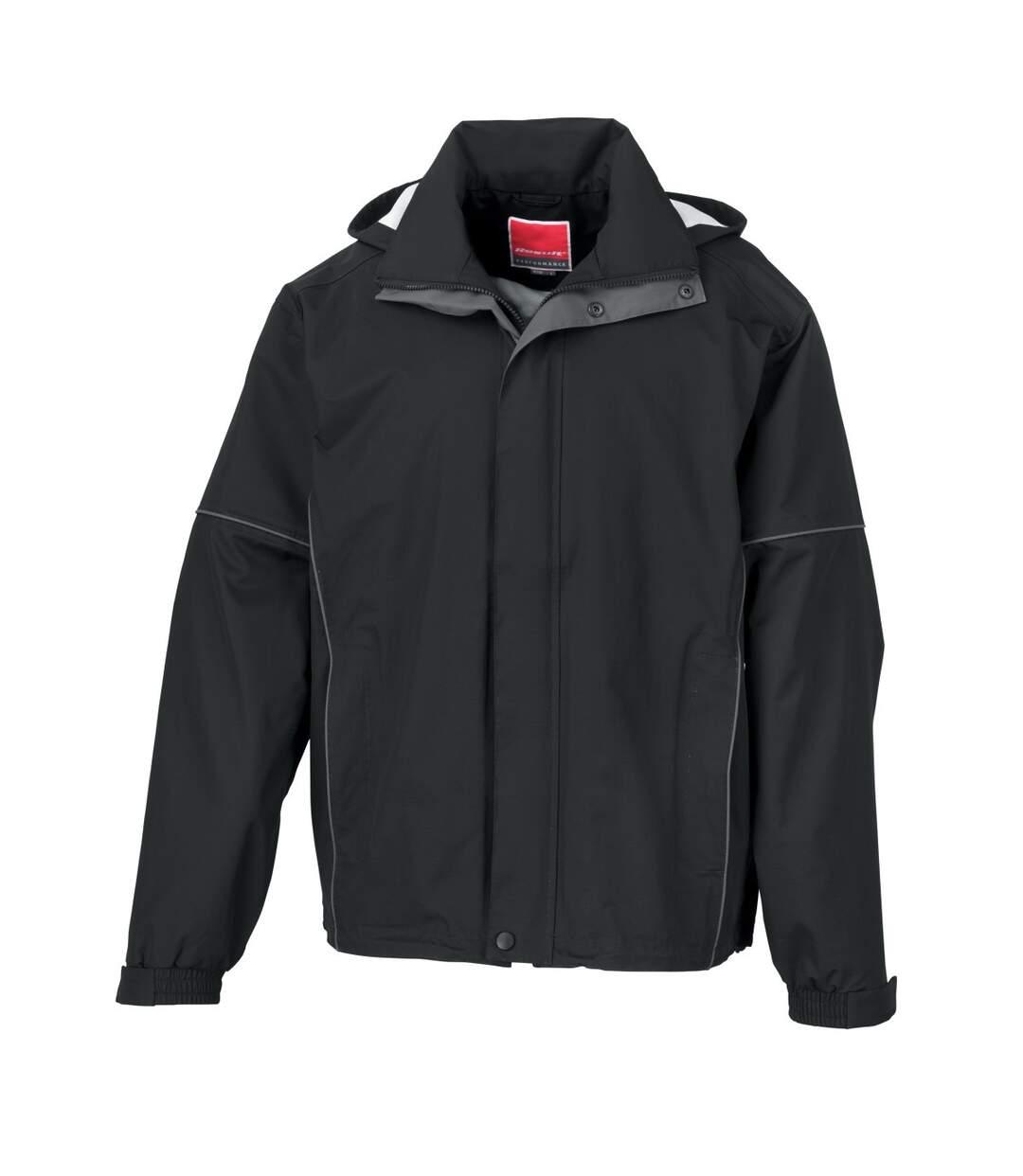 Result Mens Urban Outdoor Fell Lightweight Technical Jacket (Waterproof & Windproof) (Black) - UTBC3050