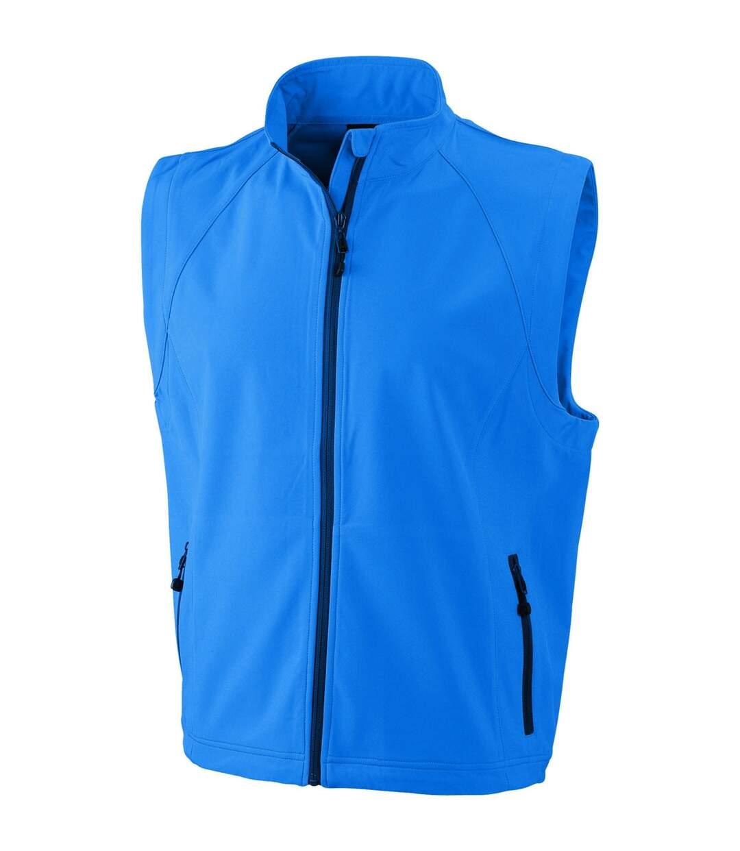 Gilet sans manches softshell coupe-vent imperméable - JN1022 - bleu azur - homme