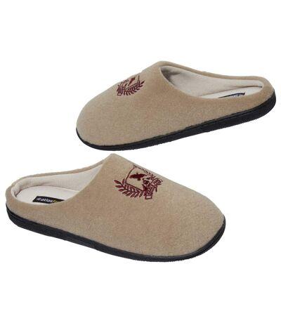 Zateplené flísové papuče svýšivkou