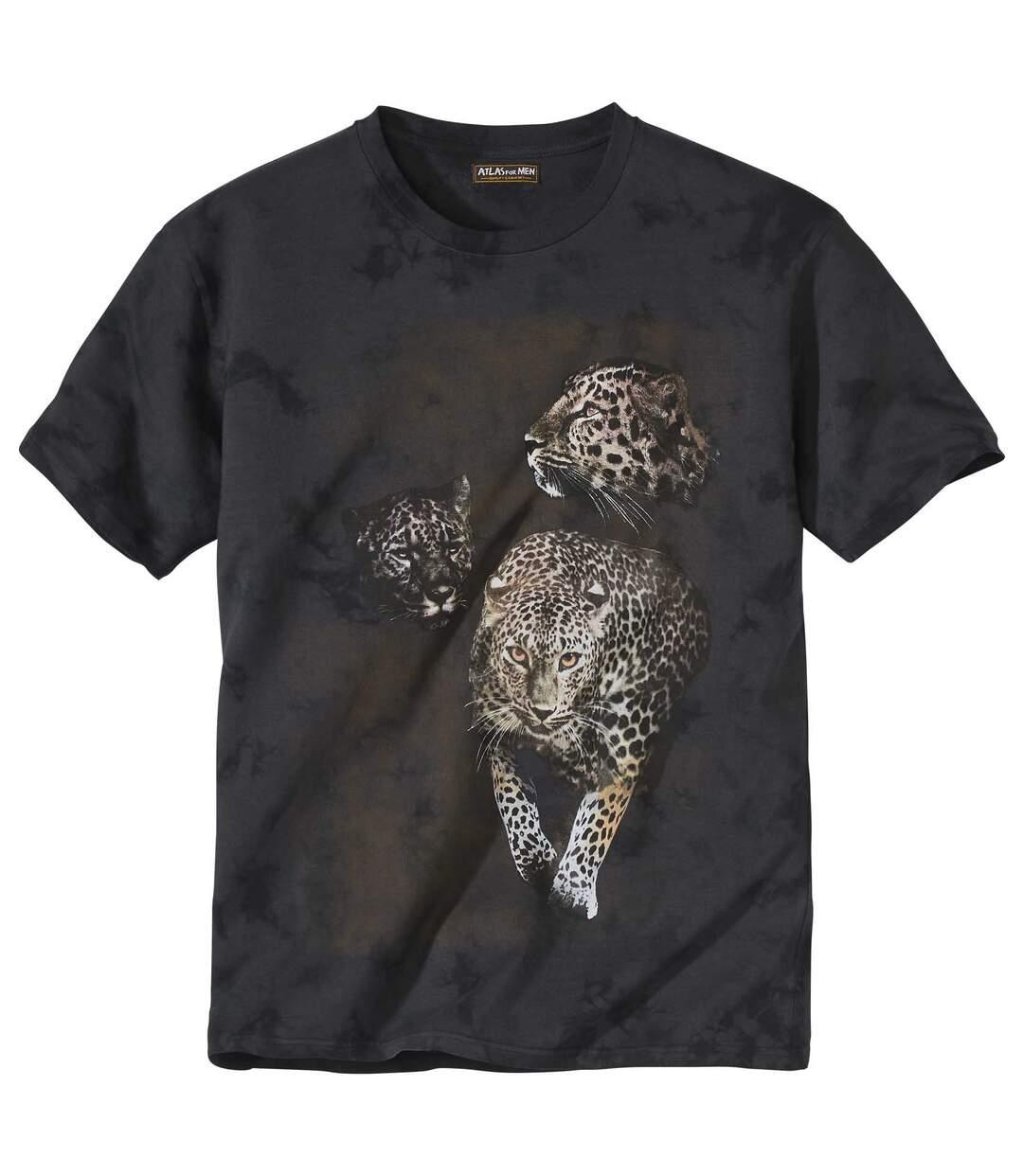 T-Shirt Panter im Batik-Look